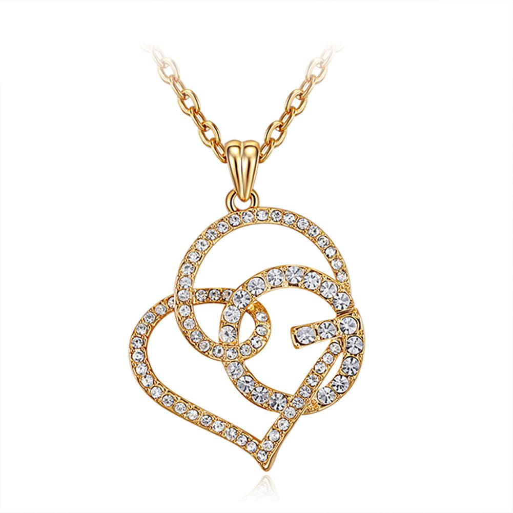 New 925 Plated Chain Pendant Necklace Bridal White Jewellery Women Gift Xmas UK