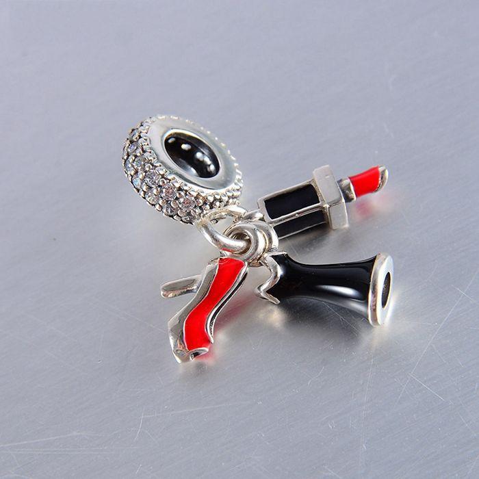 5 unids / lote Authentic Dangle Charms Silver Enameil se adapta a las pulseras de marca originales 792156ESMX H9
