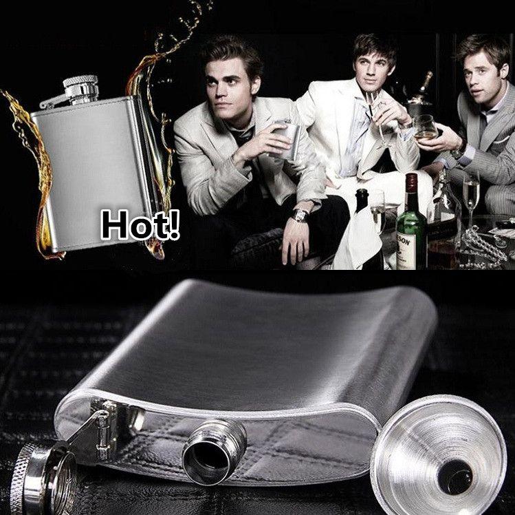 Les hommes Drinkware 8 onces hanche en acier inoxydable flacons poche flacons portable flacon flacon flacon 100PCS 1777