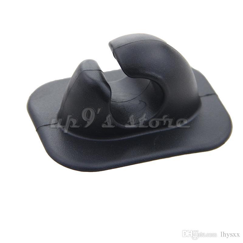 2Pcs Oar Holder 패치 폴 튜브 클립 카누 풍선 보트 딩 보트 용 회색 검정