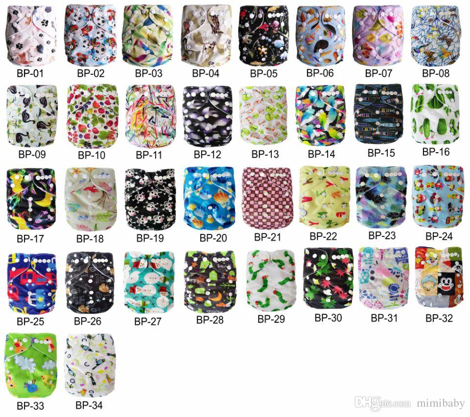 new print baby cloth diapers nappies free shipping +gift