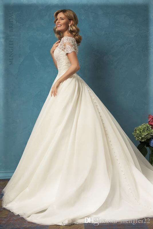 2017 Tulle Princess Ball Gown Wedding Dress With Florals Applique ...