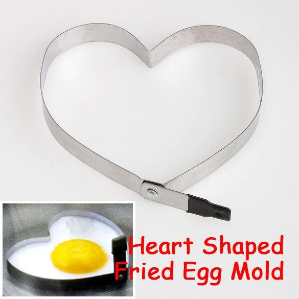 Cook Fried Egg Pancake Stainless Steel Heart Shaper Mould Mold Kitchen Tool Rings E5M1 order<$18no track