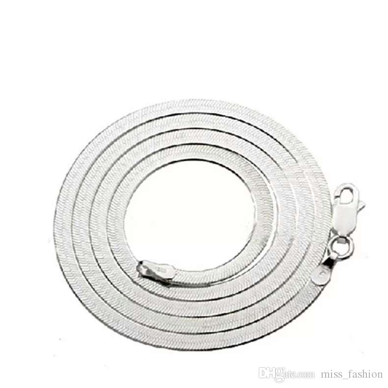 Mulher colar de prata itens de casamento do vintage cadeia de cobra plana infinito frete grátis