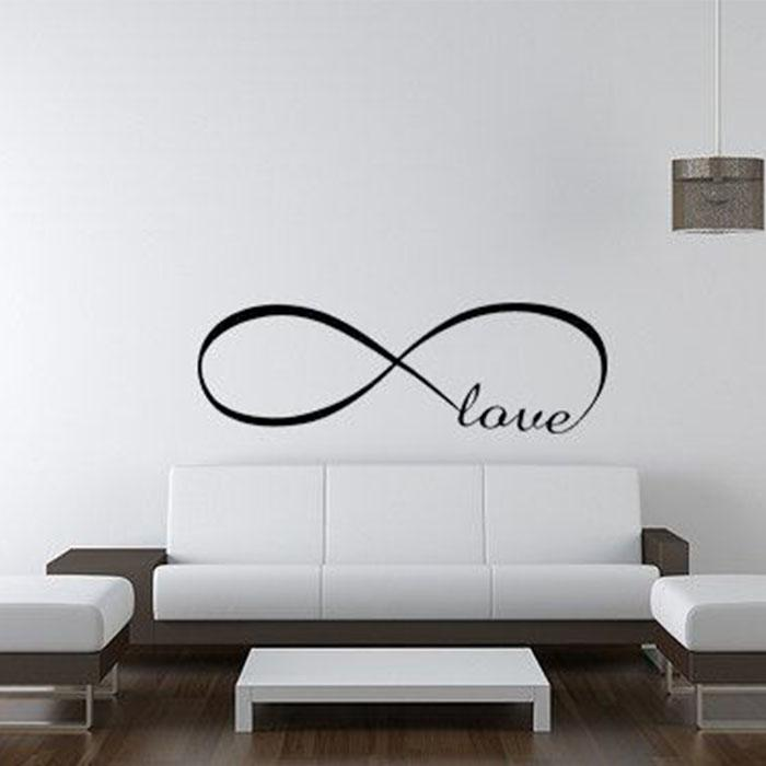 ... Large Infinity Simple Symbol Love Bedroom Wall Decor Wall Sticker Wall  Decals Home Ornaments Wholesale ...