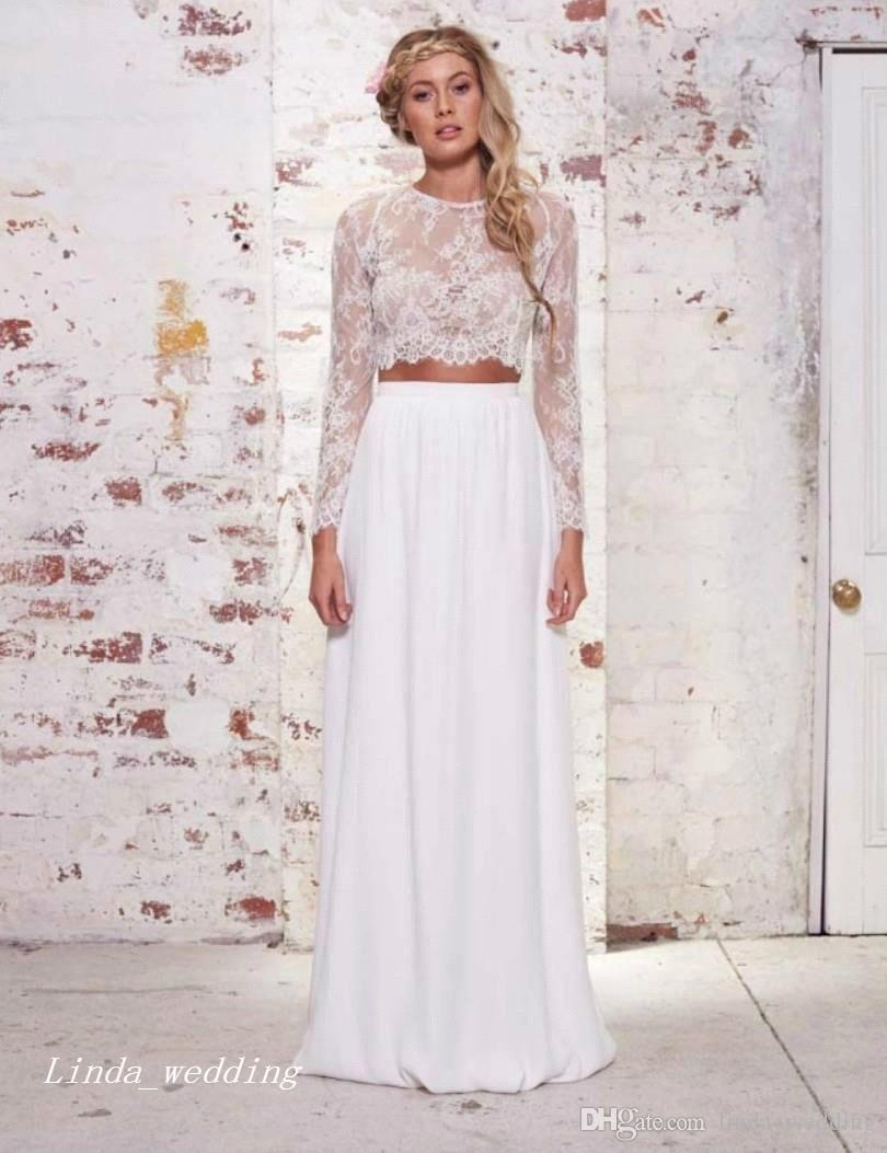 Cheap 2017 Cheap White Boho Wedding Dress High Quality Chiffon ...