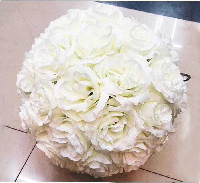 Elegante matrimonio seta Pomander Cripta appesa palla fiore decorare decorazione fiore artificiale per la festa di nozze di mercato FB012