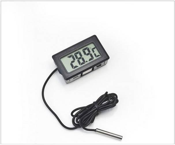 냉장고에 대 한 전문 미니 디지털 LCD 프로브 수족관 냉장고 냉동고 온도계 thermograph 온도 -50 ~ 110 학위 FY-10