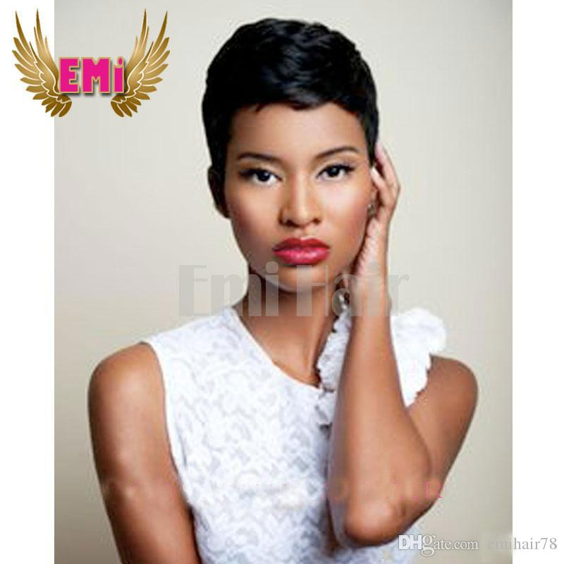 Lace Front Full Lace Rihanna Chic Pixie Cut Short human hair Wigs ...
