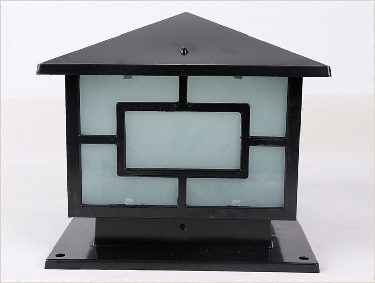 Bronz antika pirinç peyzaj japanes siyah klasik açık su geçirmez açık kapı üst duvar sonrası ışık baba lamba