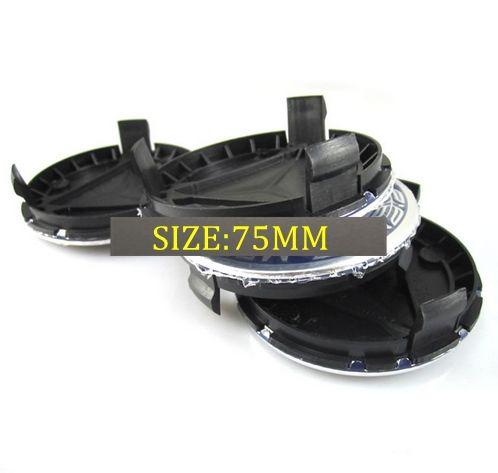 20pcs / lot 블루 크롬 원래 75mm 휠 허브 캡 엠블럼 배지 C200 C280 E200 E260 E300 ML350 용 배지 센터 캡