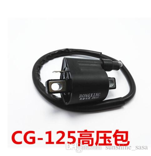 10pcs DHL 오토바이 액세서리 고전압 점화 코일 Toyota Yamaha CG125, GY6-125 저항 구리 점화 플러그 캡으로 행복