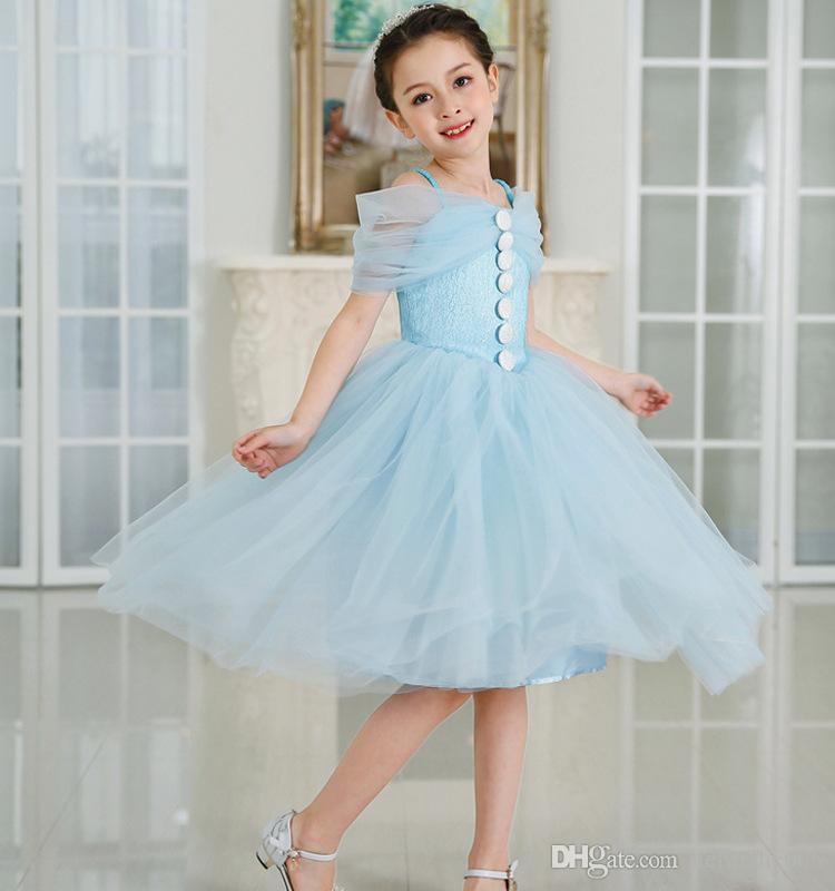 Princess Vintage Child Beautiful Flower Girl Wedding Dresses Short ...