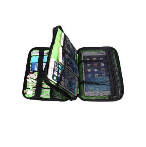 방수 더블 레이어 BUBM 여행용 와이어 보관함 전자 악세사리 공구 파우치 오거나이저 하드 드라이브 펜 데이터 케이블 가방