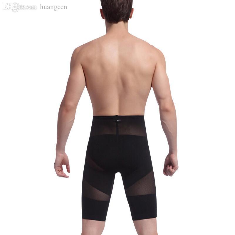도매 - 뜨거운 판매 체육관 바디 셰이퍼 남성 그림 빌딩 바지 허리 컨트롤 및 엉덩이 기중 장치에 대한 남성