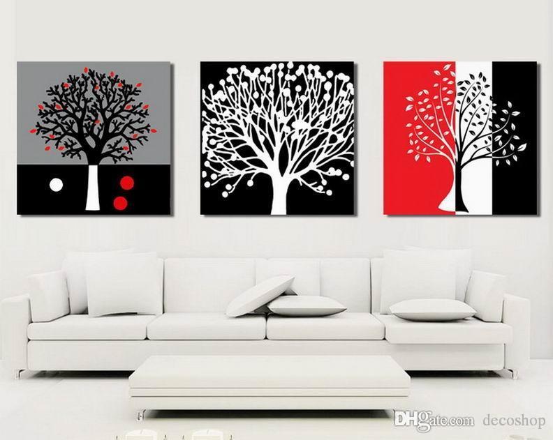 캔버스 벽 예술 홈 장식 Set30350에 현대 순수 추상 나무 회화의 giclee 인쇄