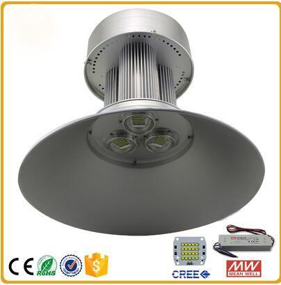 LED High Bay Light llevó luces industriales 100 W 150 W 200 W Lámpara de ahorro de energía Cree chip Controlador Meanwell para iluminación de taller de fábrica