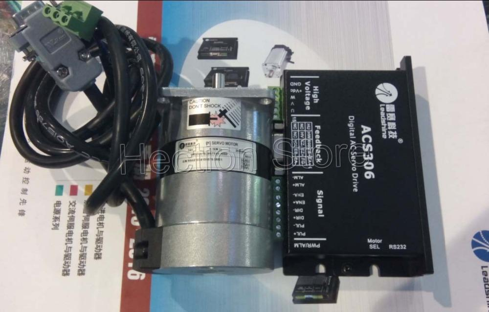 Novo Leadshine 50W Brushless servo motorista ACS306 e Brushless motor BLM57050 -1000 Motor um conjunto de trabalho 24VDC velocidade 3000RPM 0.48NM