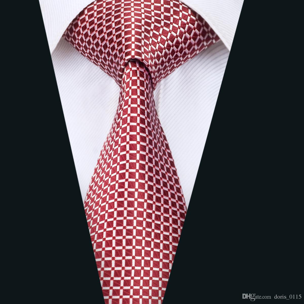 Red Floral Silk Mens Tie Necktie Silk Single Tie Wedding Business Party Sell