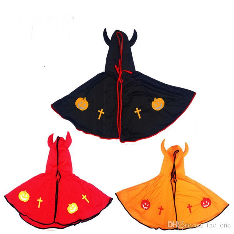 Kids Cosplay Children Costume Girl Boy Devil Horns Cape Cloak Halloween Christmas Makeup Masquerade Fantasy Christmas Masquerade halloween