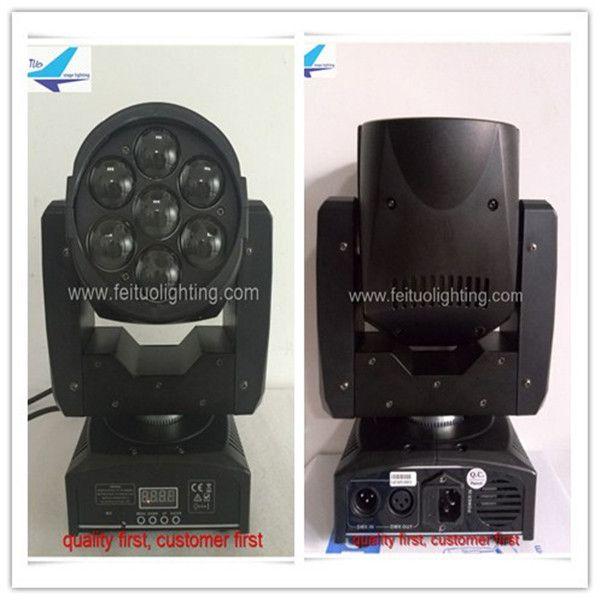 8 шт. лот светодиодный луч мыть зум rgbw движущаяся головка 7x12 Вт мини-светодиодный движущийся свет для dj party show stage light
