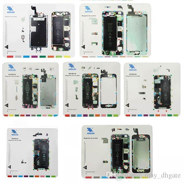 Tappetino per viti magnetiche per iPhone 7in1 Tappetino per viti magnetiche per iPhone 6 6s 6Plus 5S 5 4S 4 Ricambi per riparazioni