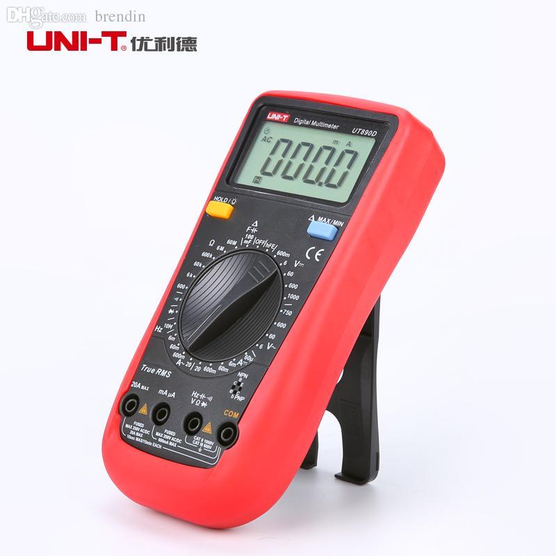 All'ingrosso-UNI-T UT890D multimetro digitale multimetro true TRUE RMS Tensione di resistenza alla tensione AC / DC
