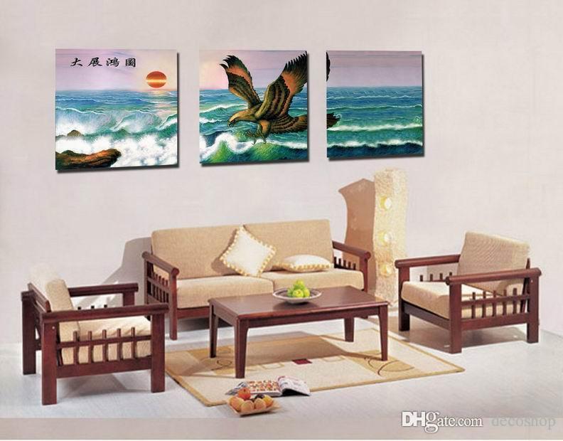 Feng Shui Wall Art Canvas Hd Imprimir Decorativo Zen Seascape Pintura Glede No Mar Set30314