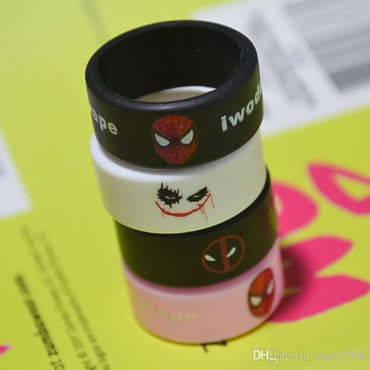 DHL gratuit 500pcs Vape Band Anneaux en silicone Amérique Logo coloré anneaux en caoutchouc antidérapante en caoutchouc Anneau adapter RDA RTA Atomiseur Mods DHL gratuit