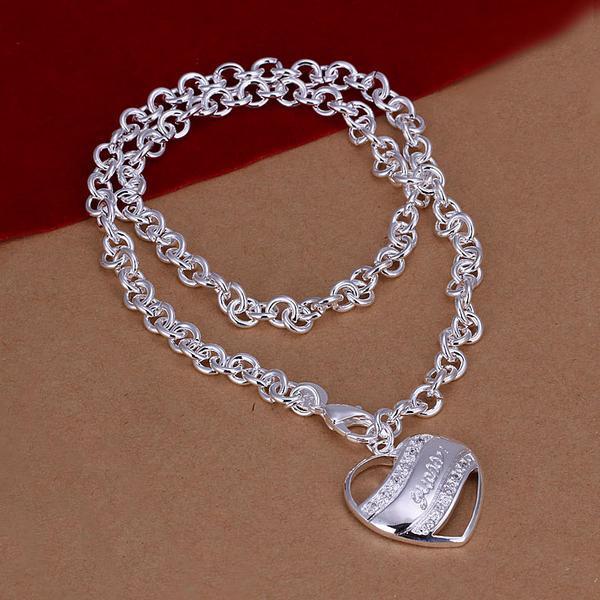 Collier vente chaude Collier en argent sterling plaqué semi-solide STSN172, mode 925 argent usine collier Chains vente directe cadeau de Noël