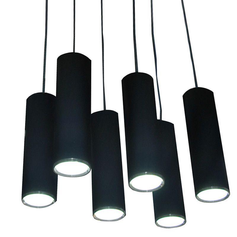 Moderna barra a LED lampada a sospensione moda creativa nero alluminio sala da pranzo luci pendent cucina corridoio balcone lampade a sospensione