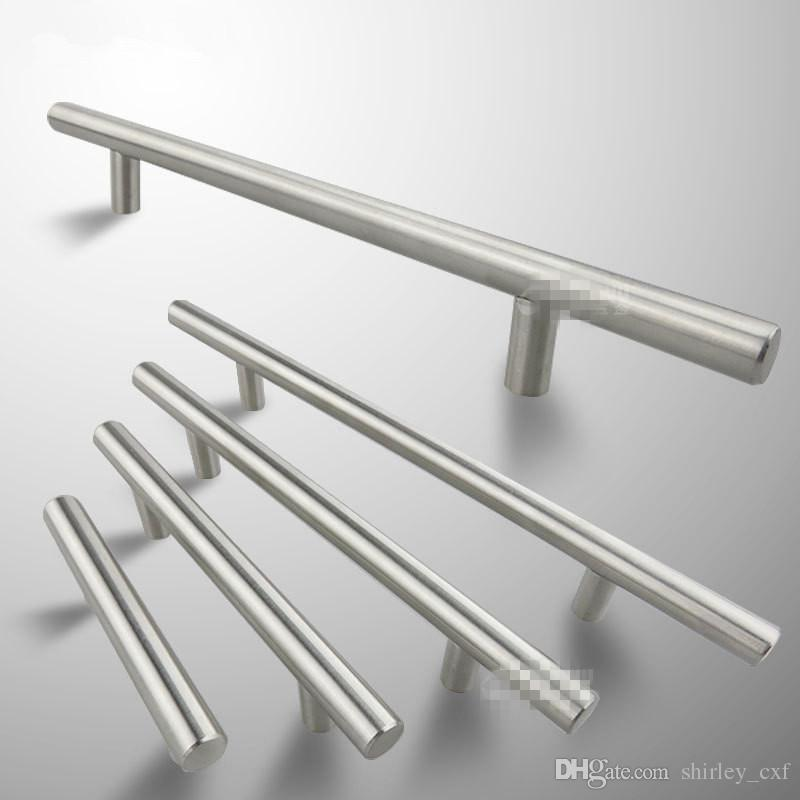 1pc Modern Satinless Steel T bar Kitchen Cabinet Door Handles Drawer Pulls/Knobs Lot Furniture Accessories