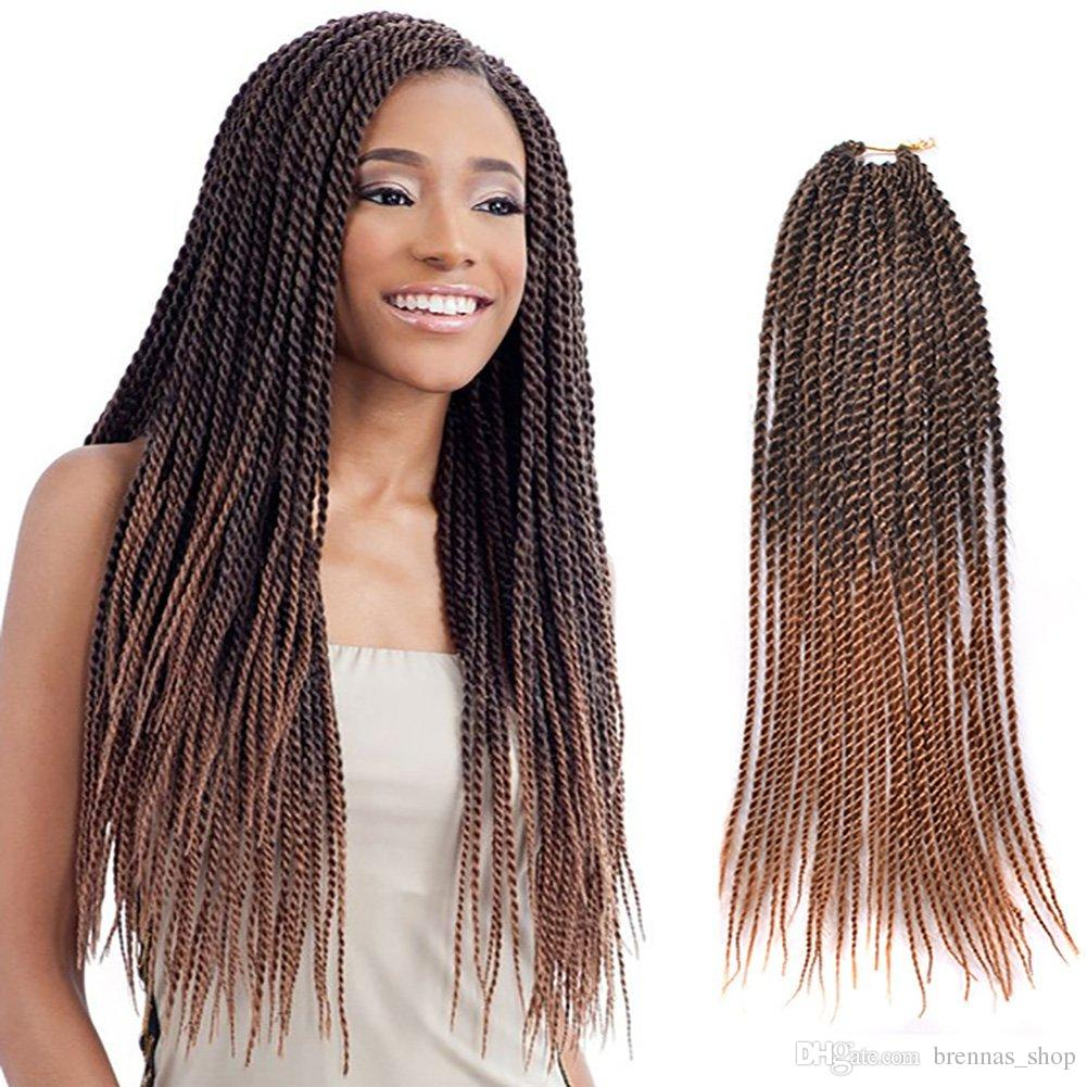 2X Senegalese Twist Perfection for Natural Hair Crochet Braids Hair havana small twist 22'' 120g/pack Crochet Braids Hair Extension