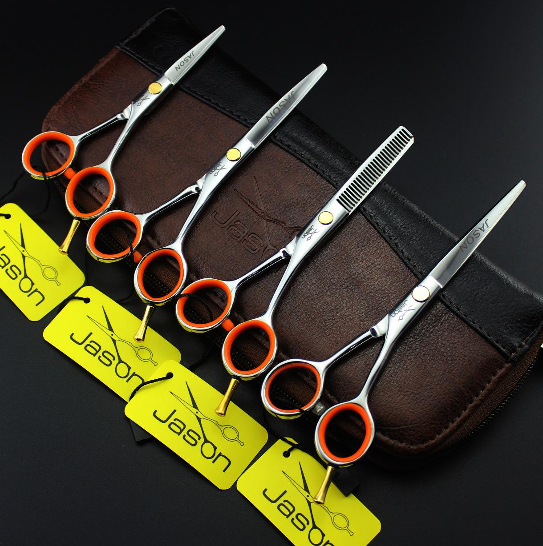 302 # 4 '' / 5 '' / 5.5 '' Marque Jason TOP GRADE Ciseaux de coiffure professionnels Ciseaux de coupe 440C Home Salon Barber Ciseaux de coupe