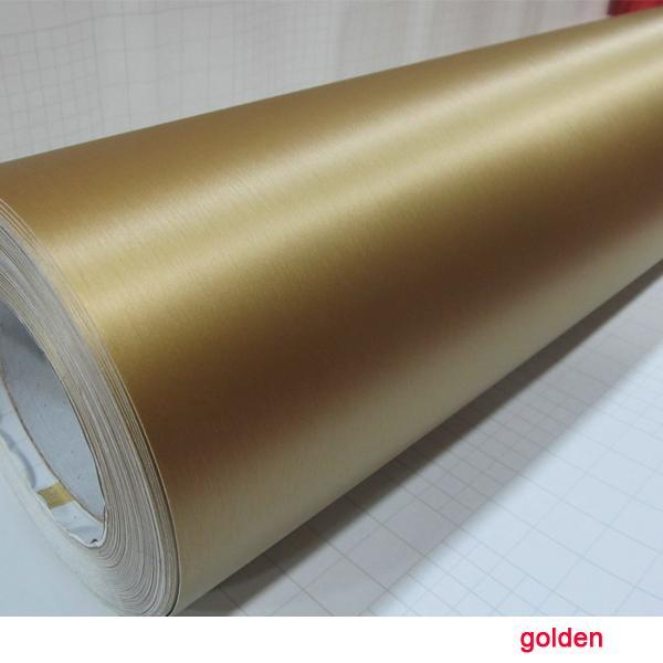 2015 RHOS China Dream1.52x30M 60''x1181 '' Luftfreie Blasen Goldene Bürste Carbon Car Wrapping Vinyl Papier Oracal Aufkleber