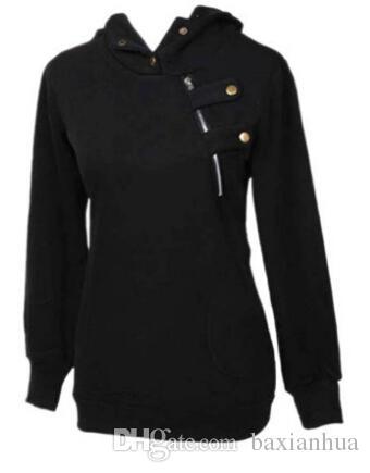 Koreanische Frauen-Kapuzenpullover Pullover-beiläufige Mantel-Bluse Tops Hoodies S M L XL