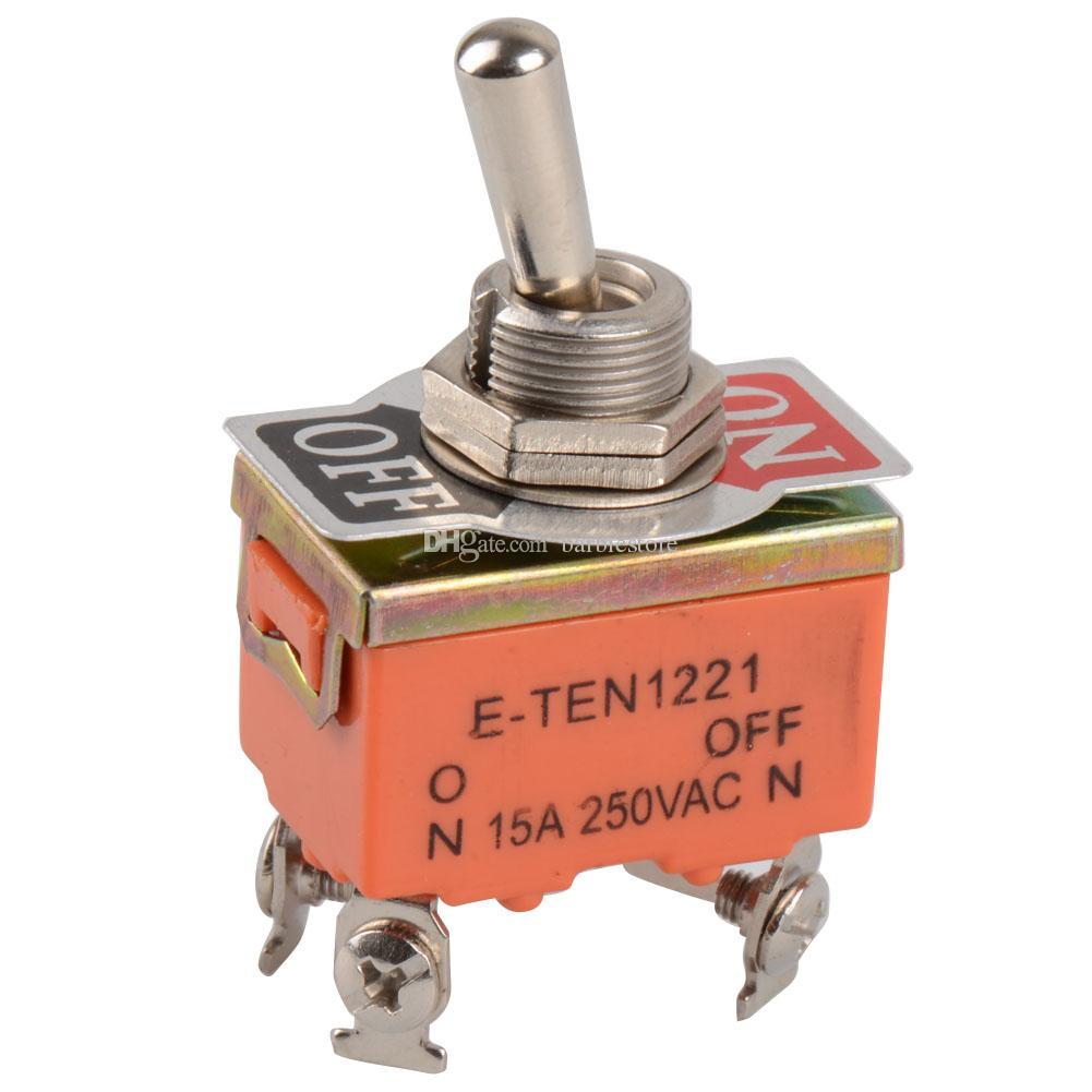 1 PC Interrupteur à bascule 4 broches ON-OFF Interrupteur à deux positions 15A 250V B00140