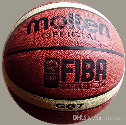 الشحن مجانا المنصهر كرة السلة GG7، SIZE7 كرة السلة، PU الماديه، 1pcs / lot الحرة مع مضخة الكرة + صافي حقيبة + 2PCS دبابيس