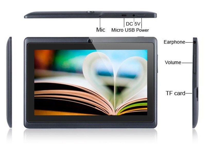 Q87 inch A33 Quad Core Tablet Allwinner Android 4.4 KitKat Capacitive 1.5GHz 1 RAM 8GB ROM WIFI Dual Camera Flashlight Cheapest MQ13
