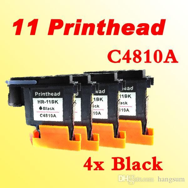 4pcs testina nera per HP11 C4810A per HP500 800 K8500 1200 2800 1700 1100 stampante