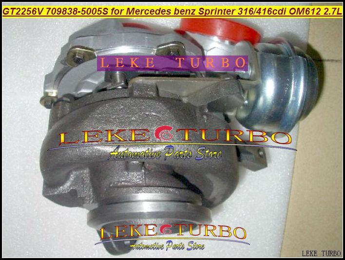 GT2256V 709838-5005S 709838-0004 709838 turbo for Mercedes benz Sprinter I Van 316CDI 416CDI OM612 2.7L turbocharger (3)