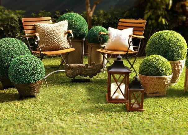 2020 Hot Wholesale Retail Artificial Topiary Grass Ball Anti Uv
