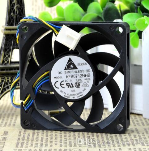 Оригинальный 0.45A AMD Delta AFB0712HHB 70 * 70 * 15 4-контактный процессор ШИМ шаровый радиатор вентилятора