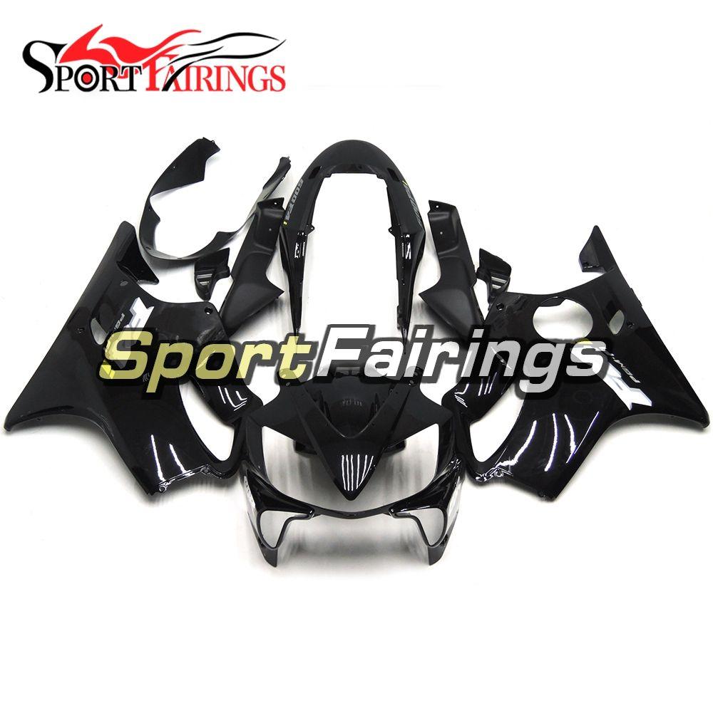 Motorcycles Plastics ABS Injection Full Fairing Kit For Honda CBR600 F4i 2004 - 2007 Year 04 05 06 07 Black White Stripe Bodywork Body Kit