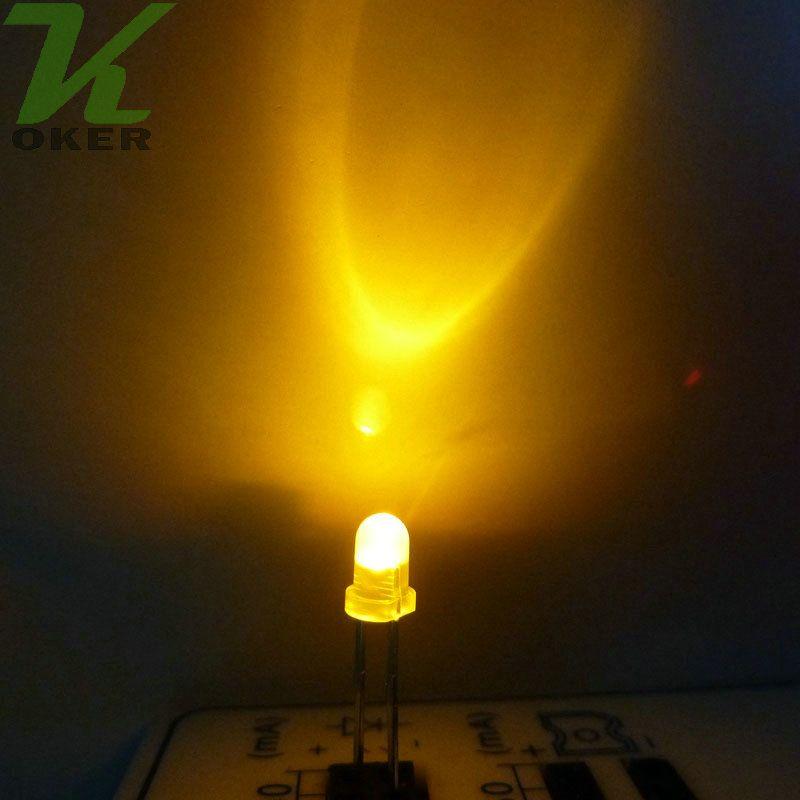 1000pcs 3mm giallo diffuso led lampada a led led diodi 3mm diffuse ultra luminoso rotondo led light spedizione gratuita