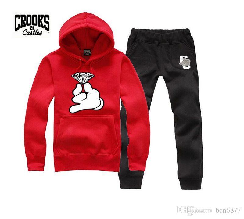 s-5xl heißesten Crooks and Castles Sweatshirt Diamant Mode Hip Hop Hoodie Herren Kleidung Sportswear Hiphop Pullover Trainingsanzüge