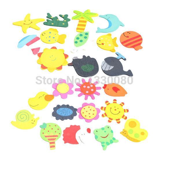 Hot Sale 12PCS Wooden Animals Refrigerator Magnetic Fridge Magnet Sticker Free Shipping E5M1# order<$18no track