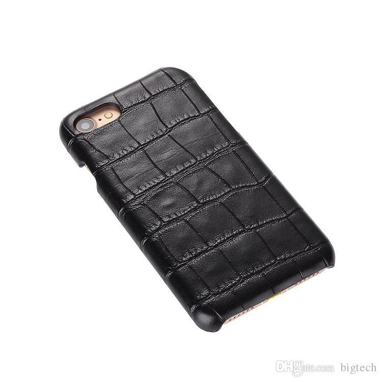 50 قطع أعلى بيع الأزياء pc جلد ثعبان الخشب نسج التمساح الجلد pc الغلاف الخلفي حالة ضئيلة ل فون 7 لسامسونج s7 الهاتف
