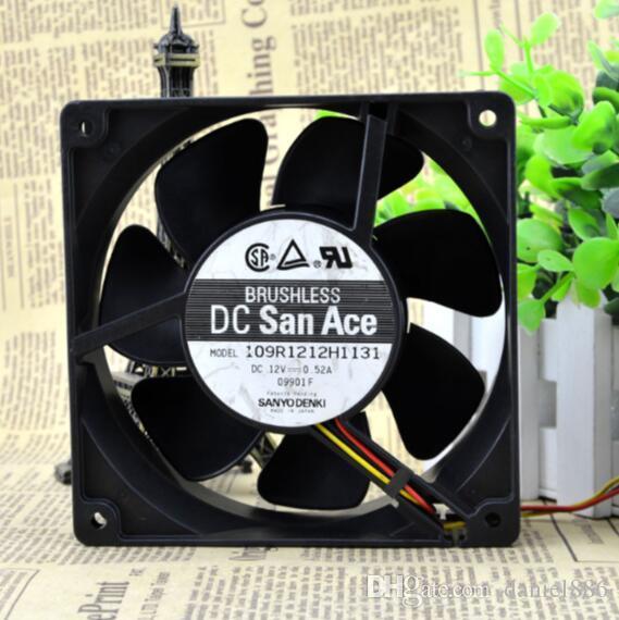 Original SANYO DC12V 0.52A 109R1212H1131 12 cm 120*120*38 3 wire inverter fan