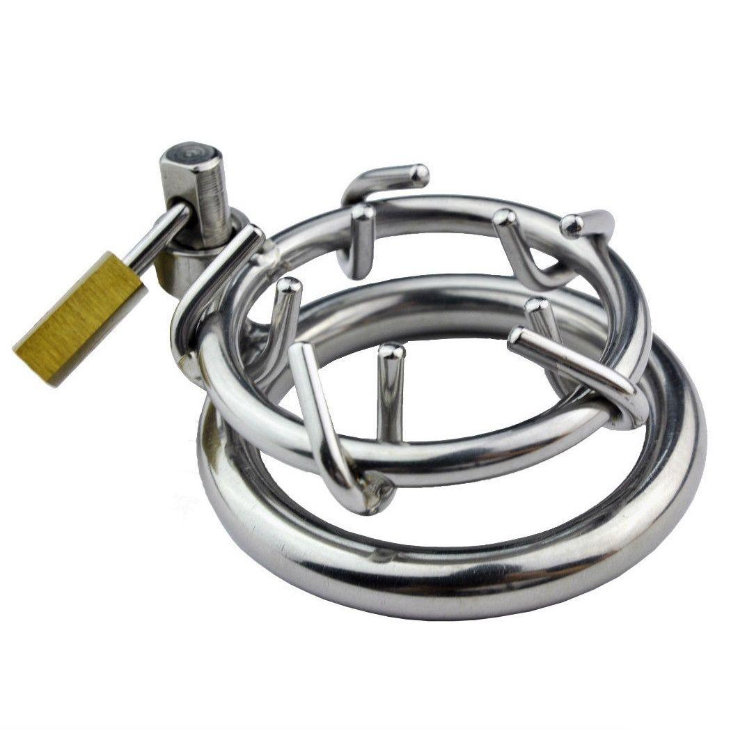 New Hot Sexy Male Chastity Device Crown Ring of Thorn Men Bondage Fetish B087 #R172